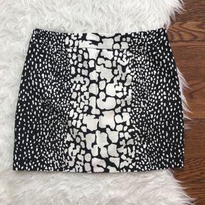 2/$25 J. Crew Python Print Mini Skirt